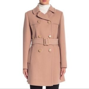 Kate Spade Wool Belted Double Breasted Trench Coat